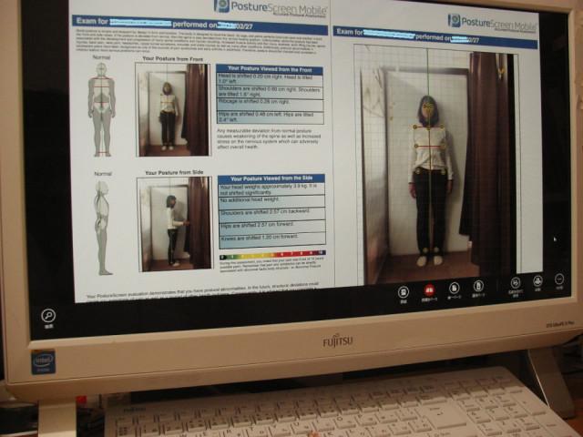 女性の姿勢分析